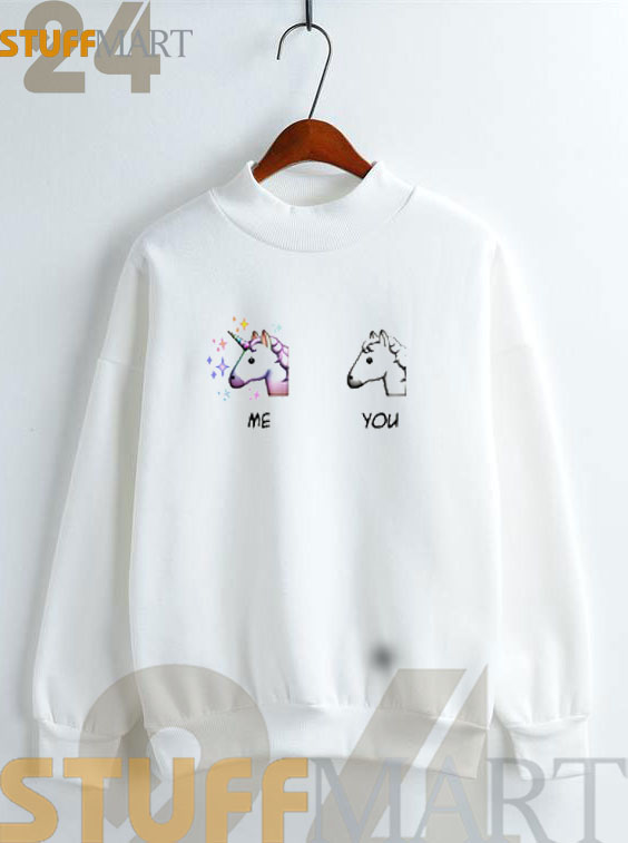 Me VS You Unicorn Sweatshirt